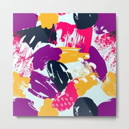 Trendy Multi Colored Paint Splash Pattern Metal Print