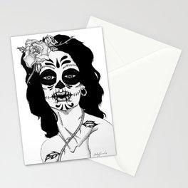 Dama De La Muerte Stationery Cards