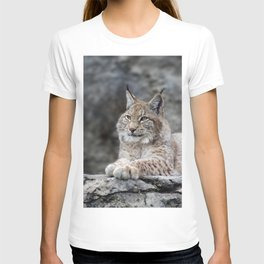 Young lynx portrait T-shirt