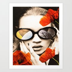 poppy pop (kate Moss) Art Print