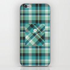 Plaid Pocket - Teal Blue/Green iPhone & iPod Skin