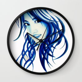 Abstract girl Wall Clock