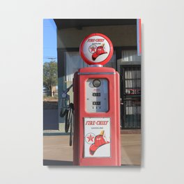 Gas Pump Metal Print