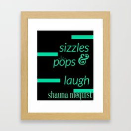 Pop & Sizzle Framed Art Print