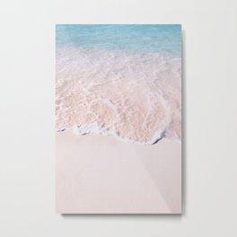 Sea Bliss - Ocean Pink Metal Print