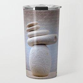 Balance Stone, Affirmations in the back Travel Mug