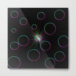 Neon Spheres Metal Print