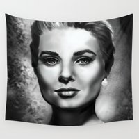 grace Wall Tapestries featuring Grace by Lily Fitch