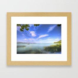 Lake Balaton Hungary Framed Art Print