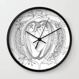 Avian Respiratory System, B&W Wall Clock