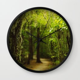 Louisiana Forest, Spanish Moss Wall Clock