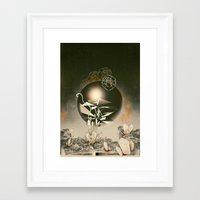 prometheus Framed Art Prints featuring Prometheus  by Santiago Sarquis