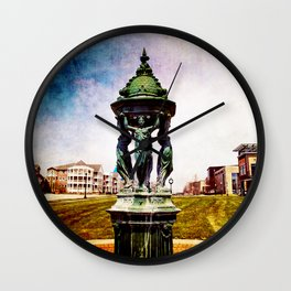 A Day In The Town By The Lake Wall Clock