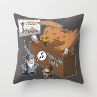 middle earth Throw Pillows featuring Middle Earth Travels by souldroid