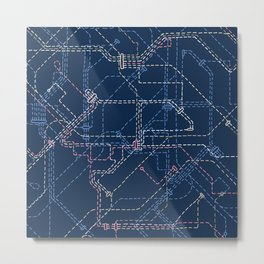 Public Transport Network Metal Print