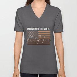Madam Vice President Kamala Harris Unisex V-Neck