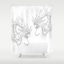 Mechanical Gyarados Shower Curtain