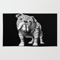 english bulldog Area & Throw Rugs featuring English Bulldog by BIOWORKZ