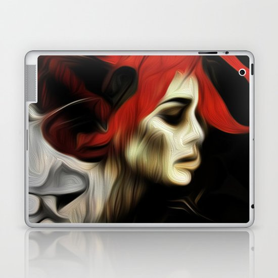 portrait of sadness Laptop & iPad Skin