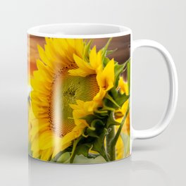 Sunrise over the Sunflowers Coffee Mug