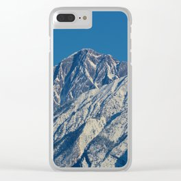 Fresh snow on the mountains of Jasper National Park Clear iPhone Case