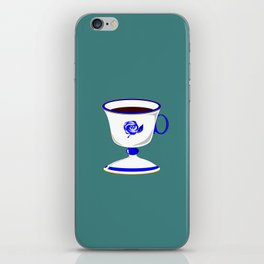 Cup of Coffee in Blue Flow Vintage China iPhone Skin