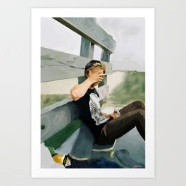 Ghosted Skater MkII Art Print