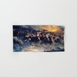 12,000pixel-500dpi - Peter Nicolai Arbo - The Wild Hunt of Odin - Digital Remastered Edition Hand & Bath Towel