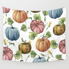 PUMPKINS WATERCOLOR Wall Tapestry