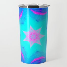 pink & blue starburst Travel Mug
