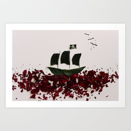 A Pirate's Leaf for Me Art Print
