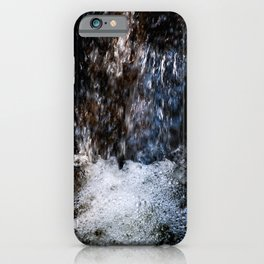 Running Water Of The Small Waterfall Of The Forest Spring iPhone Case