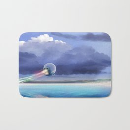 Cruising over the beach Bath Mat