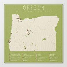 Oregon Golf Courses Canvas Print