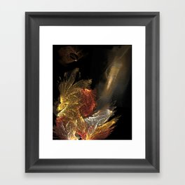 Dragon with staircase Framed Art Print