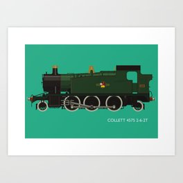 Collett 4575 2-6-2T Art Print