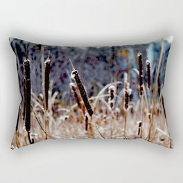 A Dreary Field Rectangular Pillow
