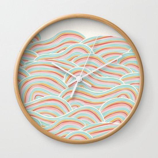 Summer Sea Waves Wall Clock