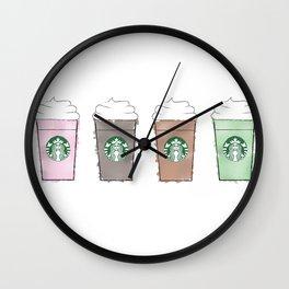 Watercolor Frappuccinos Wall Clock