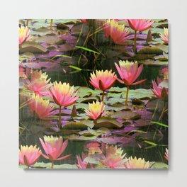 Sunrise Water Lilies Metal Print