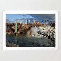 Niagara Falls and Rainbow 1 Art Print