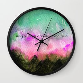 may all your dreams come true Wall Clock