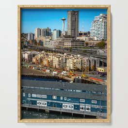 Seattle Space Needle and Aquarium Serving Tray