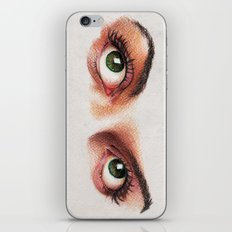 Eyes girl are looking something iPhone & iPod Skin