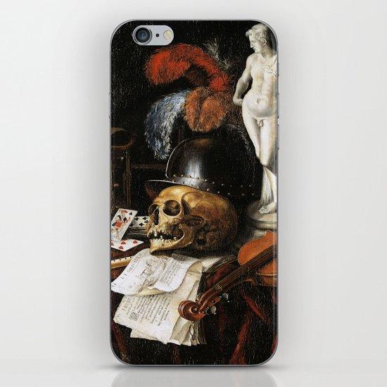Vintage Vanitas- Still Life with Skull 3 iPhone & iPod Skin
