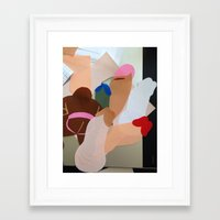 penis Framed Art Prints featuring Penis Collage by vooduude