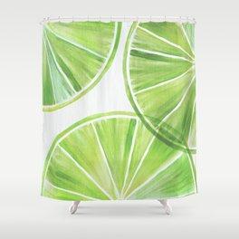 Fresh Lime ~ Summer Citrus Shower Curtain