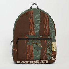 Vintage poster - Sequoia National ParkX Backpack