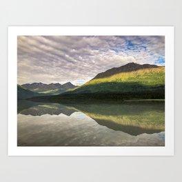 Sun on the Mountains  Art Print