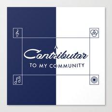 Contributor Canvas Print